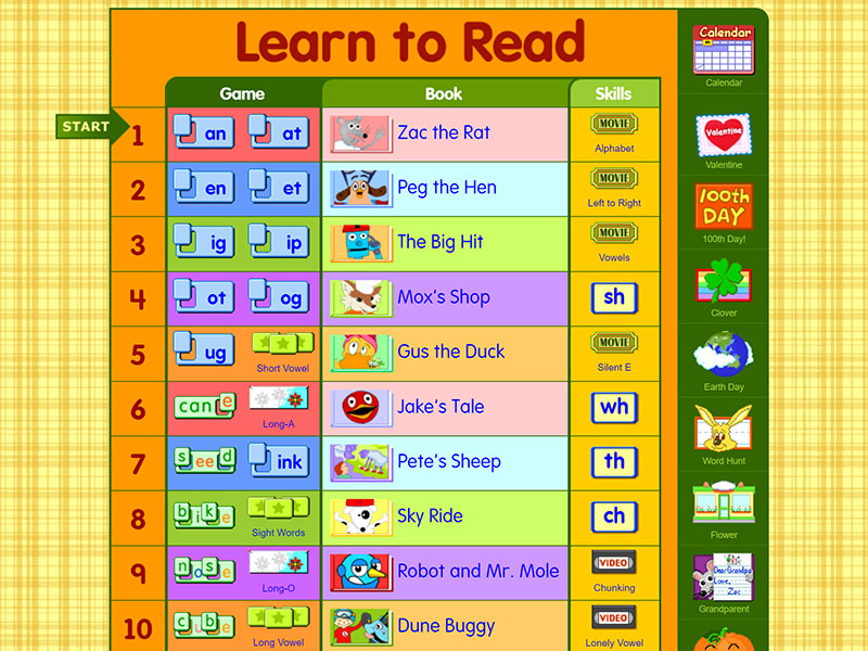 www.starfall.com A Learn How To Read Site