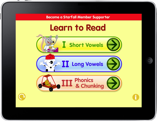 Starfall Learn to Read now an App!
